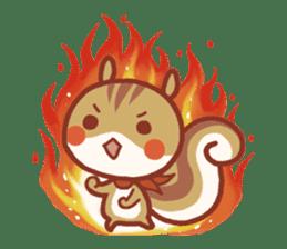 Leisurely squirrel sticker #2057209