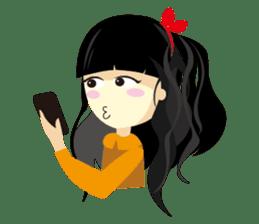 Q-WOW Girl sticker #2057499