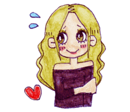 Blonde girl sticker #2058377
