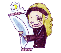 Blonde girl sticker #2058378