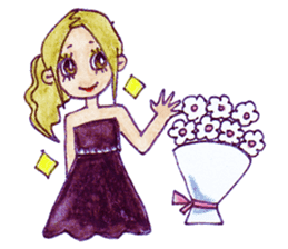 Blonde girl sticker #2058380