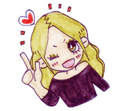 Blonde girl sticker #2058382