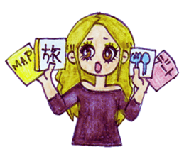 Blonde girl sticker #2058387