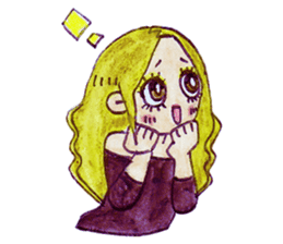 Blonde girl sticker #2058389