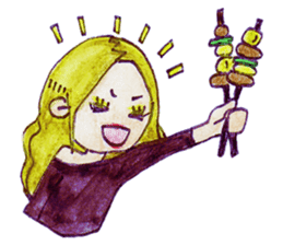 Blonde girl sticker #2058394