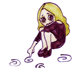 Blonde girl sticker #2058411
