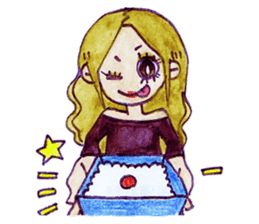 Blonde girl sticker #2058412