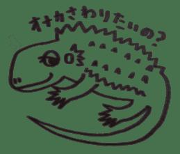 Cute Pogona vitticeps sticker #2059694