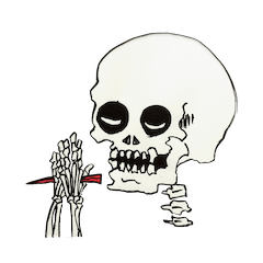 GAIKOSHI kun of skull Sticker