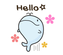 Cute whale Azul and Momo (English) sticker #2059938