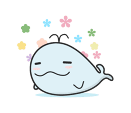 Cute whale Azul and Momo (English) sticker #2059941