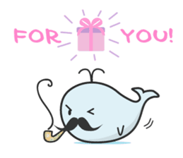 Cute whale Azul and Momo (English) sticker #2059946