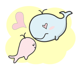 Cute whale Azul and Momo (English) sticker #2059951
