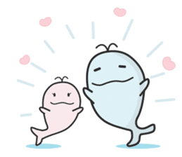 Cute whale Azul and Momo (English) sticker #2059952