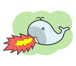 Cute whale Azul and Momo (English) sticker #2059964