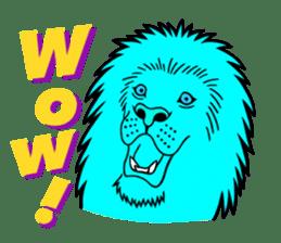 The Speaking Lion (English version) sticker #2060854