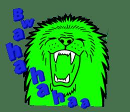 The Speaking Lion (English version) sticker #2060856