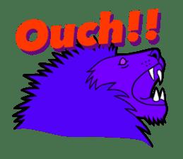 The Speaking Lion (English version) sticker #2060857
