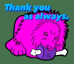 The Speaking Lion (English version) sticker #2060859