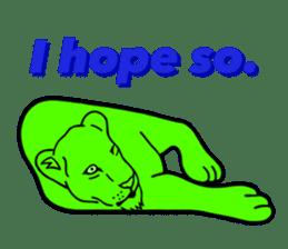 The Speaking Lion (English version) sticker #2060861