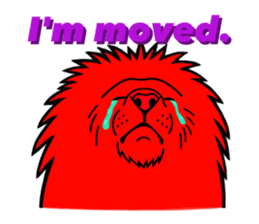 The Speaking Lion (English version) sticker #2060862