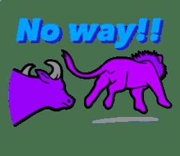 The Speaking Lion (English version) sticker #2060864