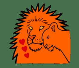 The Speaking Lion (English version) sticker #2060865
