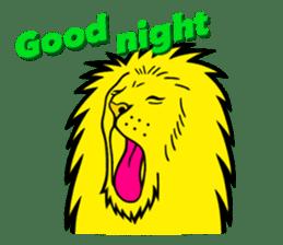 The Speaking Lion (English version) sticker #2060867