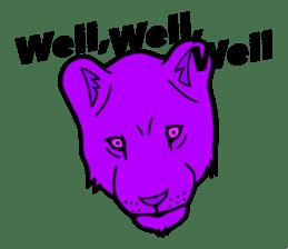 The Speaking Lion (English version) sticker #2060869