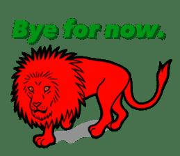 The Speaking Lion (English version) sticker #2060871