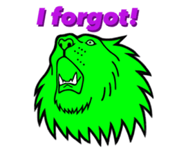 The Speaking Lion (English version) sticker #2060872