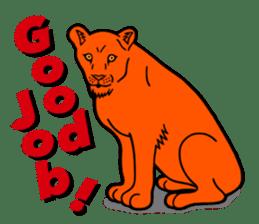The Speaking Lion (English version) sticker #2060876