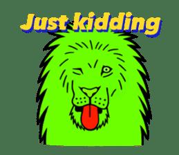 The Speaking Lion (English version) sticker #2060877