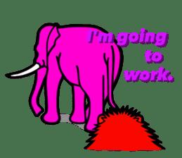 The Speaking Lion (English version) sticker #2060878