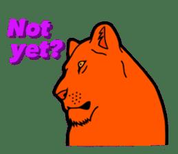 The Speaking Lion (English version) sticker #2060881