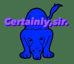 The Speaking Lion (English version) sticker #2060884