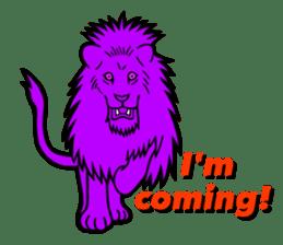 The Speaking Lion (English version) sticker #2060892