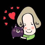 สติ๊กเกอร์ไลน์ Mameta and Azuki