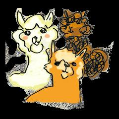 Fluffy Alpaca Family