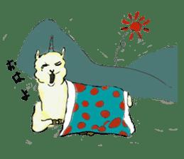 Fluffy Alpaca Family sticker #2062854