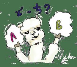 Fluffy Alpaca Family sticker #2062855