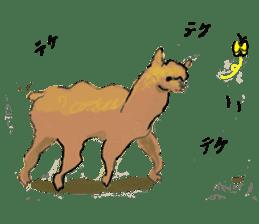 Fluffy Alpaca Family sticker #2062857