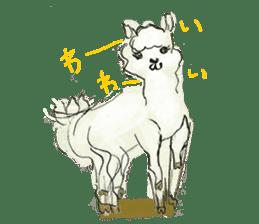 Fluffy Alpaca Family sticker #2062858