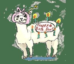 Fluffy Alpaca Family sticker #2062859