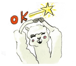 Fluffy Alpaca Family sticker #2062861