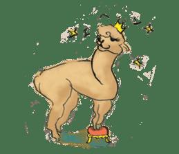 Fluffy Alpaca Family sticker #2062865