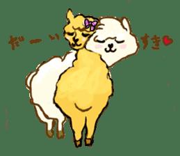 Fluffy Alpaca Family sticker #2062867