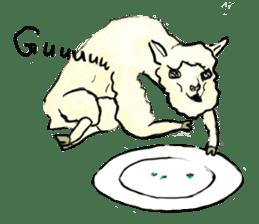 Fluffy Alpaca Family sticker #2062870