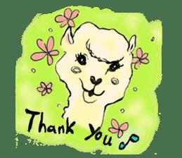 Fluffy Alpaca Family sticker #2062872