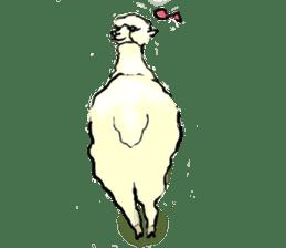 Fluffy Alpaca Family sticker #2062873